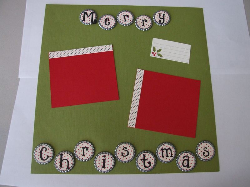 12 x 12 Christmas layout