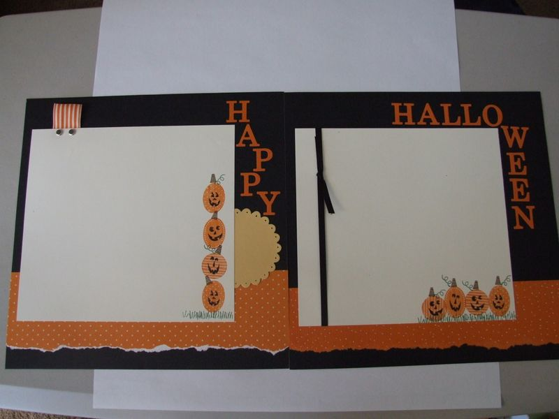 12x12 halloween two page spread