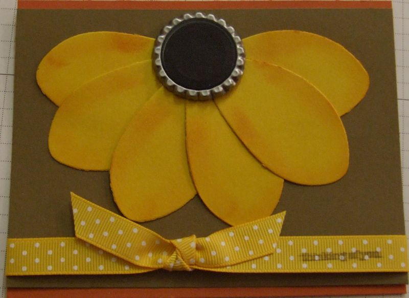 Sunflower bottle cap
