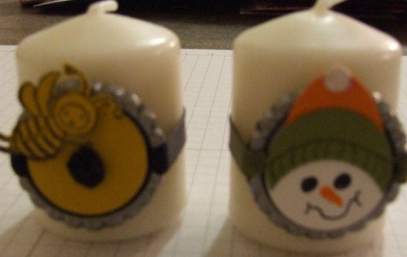 Candles bottle cap