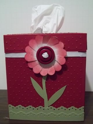 Cherry cobbler tissue box cover
