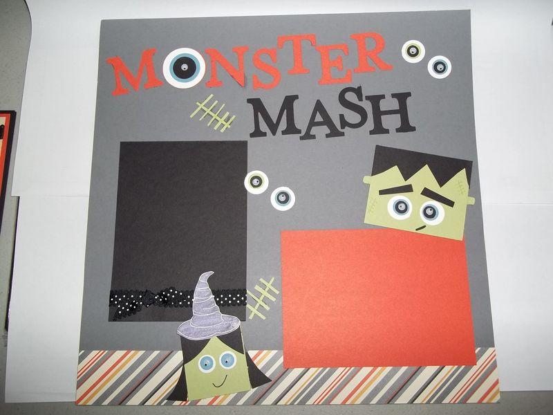 Halloween 12x12 scrapbook page
