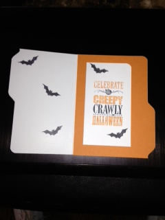 Blog halloween file folder card opened